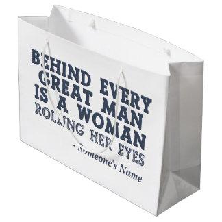 Behind Every Man custom gift bag