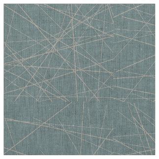 Beige and Aqua Geometric Abstract Pattern Fabric