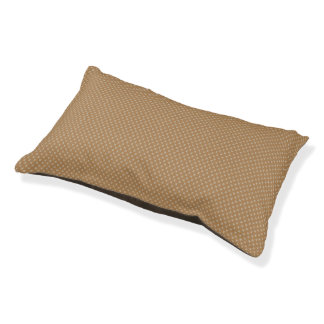 Beige and Tan Tiny X Patterned Dog Bed