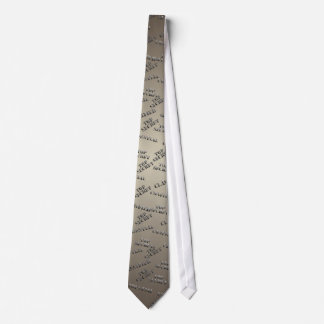 Beige Black Classified Top Secret Tie