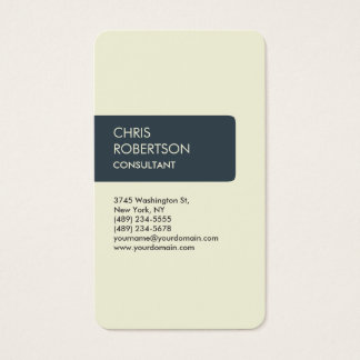 Beige Charcoal Attractive Charming Business Card