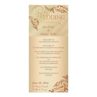 Beige color wedding programs rack card