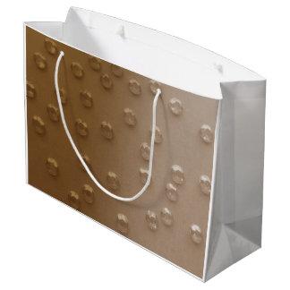 BEIGE CRYSTAL SHOPPING BAG