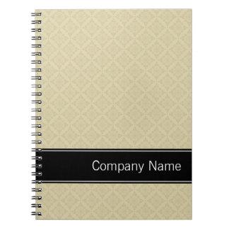 Beige Diamonds Pattern Personalized Notebook