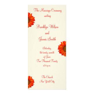 Beige Fall Wedding Ceremony Programs Sunflower Custom Rack Cards