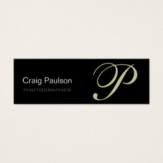 Beige Grey Black Modern Photography Business Card