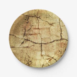 Beige Grunge-Style Paper Plates