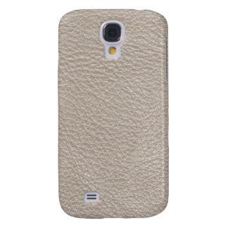 Beige Leather Texture Pattern Galaxy S4 Case