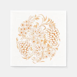 Beige Maple Ornament Disposable Serviette