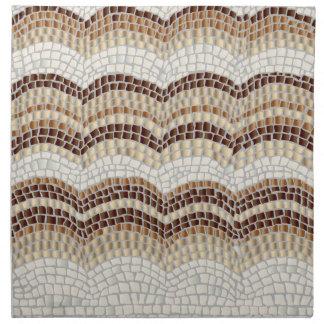 Beige Mosaic Dinner Cloth Napkins