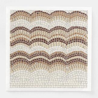 Beige Mosaic Dinner Paper Napkins