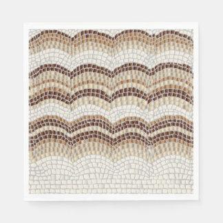 Beige Mosaic Luncheon Paper Napkins