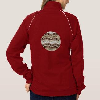 Beige Mosaic Women's Track Jacket
