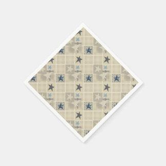 Beige patchwork paper napkin