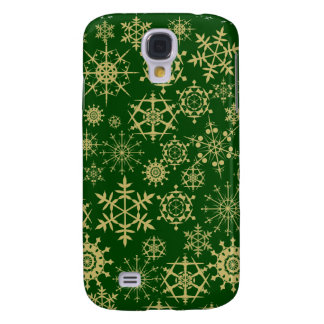 Beige Snowflakes Galaxy S4 Case