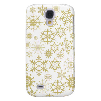 Beige Snowflakes Galaxy S4 Case