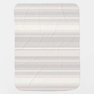 Beige stripes baby blanket
