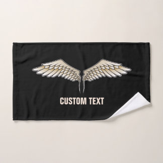 Beige wings bath towel set