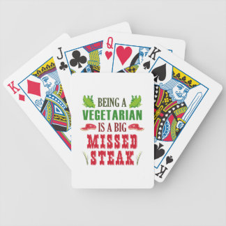 Being A Vegetarian Is A Big Missed Steak Bicycle Playing Cards