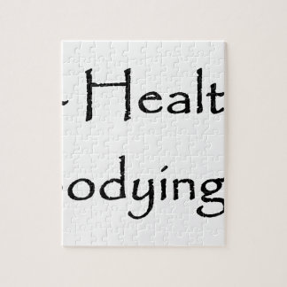 Being Fit Healthy Honors Embodying Life white Jigsaw Puzzle