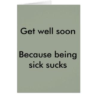 Being Sick Sucks card