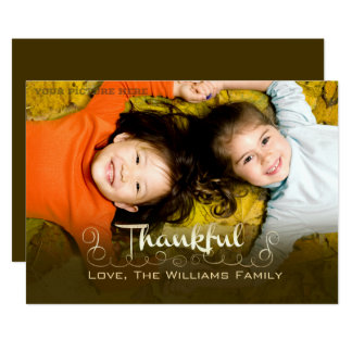 Being Thankful. Thanksgiving Custom Photo Cards
