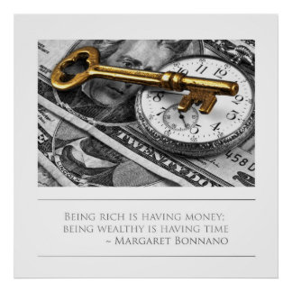 Being Wealthy is having time Poster