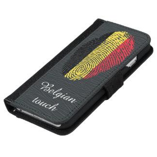 Belgian touch fingerprint flag iPhone 6 wallet case