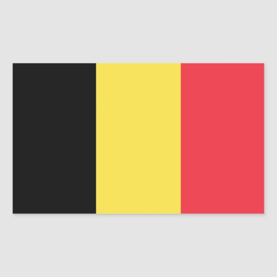 Belgium/Belgian Flag Rectangular Sticker