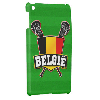 Belgium Flag Lacrosse Logo iPad Mini Covers
