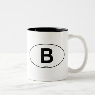 Belgium Oval Two-Tone Coffee Mug