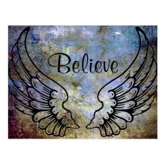Believe - Angel Wings Celestial Postcard