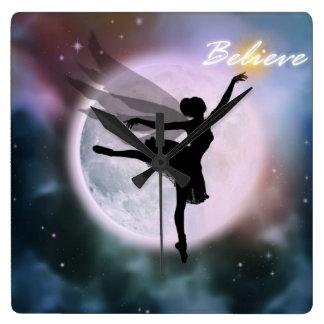 Believe fairy dance clock