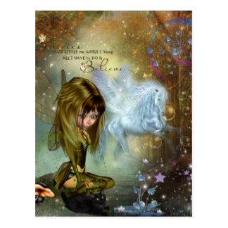 Believe Fairy Postcard