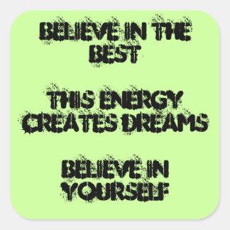 Believe Haiku Sticker