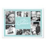 Believe in Christmas Snowflakes 8 Photo Card 13 Cm X 18 Cm Invitation Card