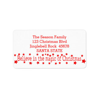 Believe in the magic of Christmas Address Label