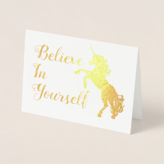 Believe in Yourself unicorn Card
