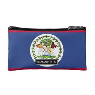 Belize Flag Makeup Bag