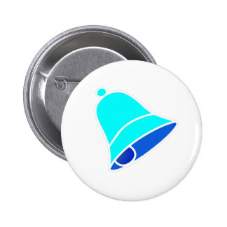 Bell Cyan Inv 45 deg The MUSEUM Zazzle Gifts Button