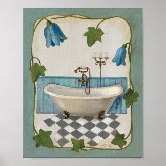 Bell Flower Bath Poster