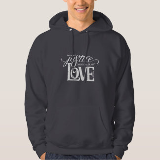 bell hooks Without Justice Gray Pullover Hoodie