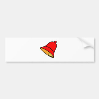 Bell Red Left 45 deg The MUSEUM Zazzle Gifts Bumper Stickers