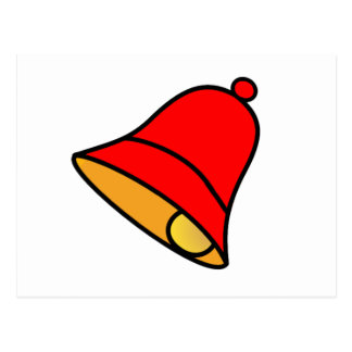 Bell Red Left 45 deg The MUSEUM Zazzle Gifts Post Card