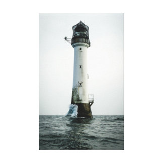 Bell Rock Lighthouse Stretched Canvas Prints