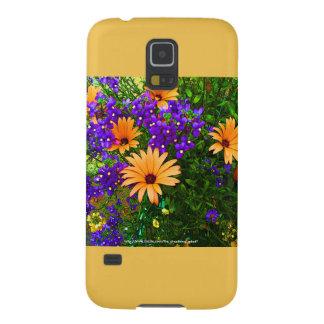 Bella Blue & Orange Samsung S5 Case Yellow Accent Galaxy S5 Cover