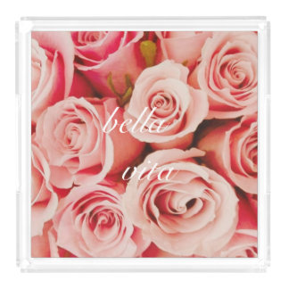 Bella Vita Rose Bouquet Tray