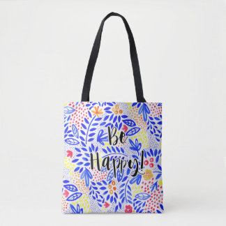 Belle Be Happy Floral Tote Bag