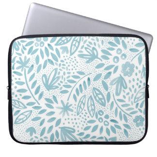 Belle Blue Floral Laptop Sleeve