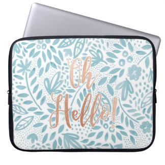 Belle Blue 'Oh Hello' Laptop Case Laptop Computer Sleeves